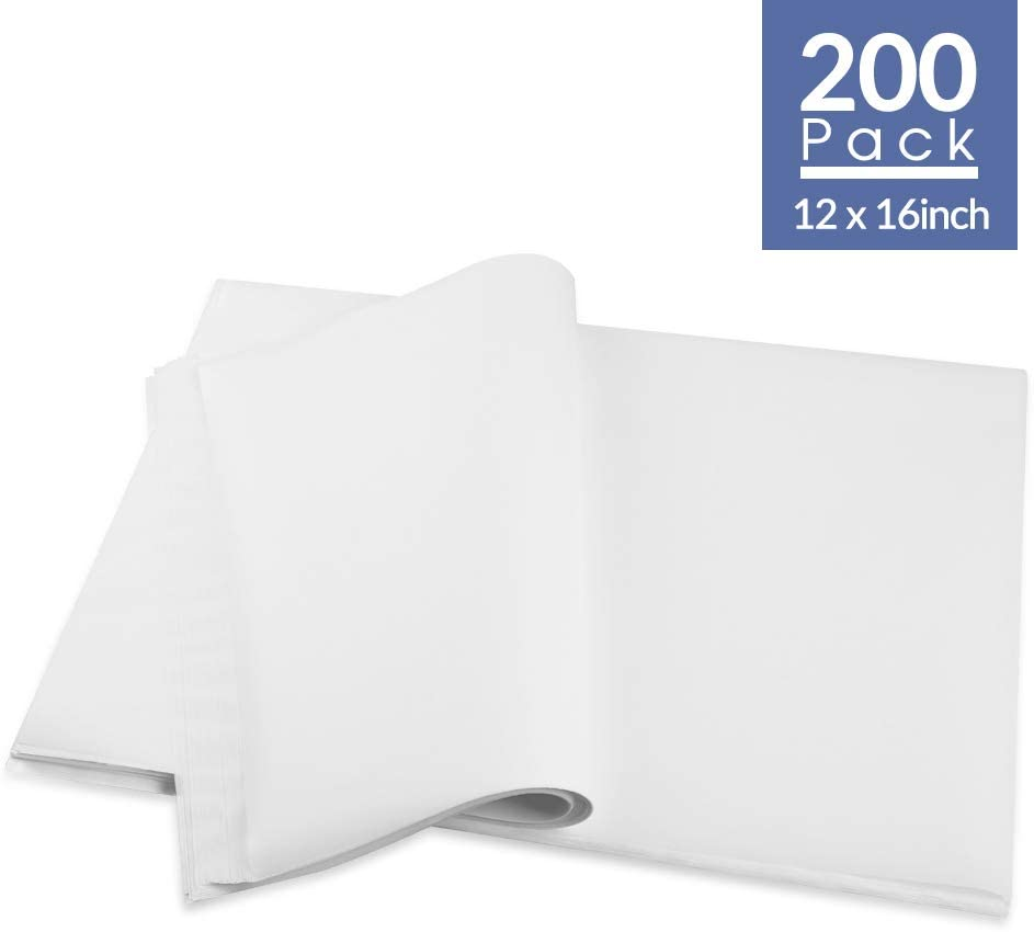 200 Pack Parchment Paper Baking Sheets, 12 x 16 Inches Non-Stick Pre-cut Baking Parchment In Oven, Dual-Sided Wax Paper Perfect for Baking Cookies, Bread Cup Cake, Air Fryer Steaming, White