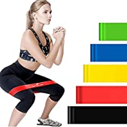 Exercise Resistance Bands - 5 Levels CKDCARES Resistance Loop Bands for Strength Training - Yoga and Outdoor W