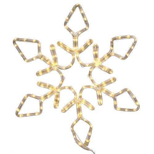 Vickerman 48'' Pure White LED Lighted Rope Light Snowflake Commercial Christmas Decoration by Vickerman