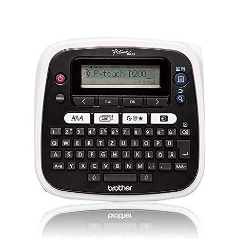 BROTHER PT-D200 - Impresora de Etiquetas (Transferencia térmica, 180 x 180 dpi, 20 mm/s, 9 mm, 1,2 cm, LCD)