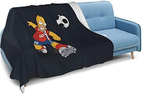 Zsrgvdrf Simpsons Couverture double face en duvet de renard argenté et poils d'agneau super doux et moelleux pour lits et canapés Plusieurs tailles disponibles 80 x 60 cm