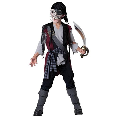 [InCharacter Costumes Child's Shipwrecked Pirate Costume, Black/Grey, 12] (Costume Zombie Pirate)