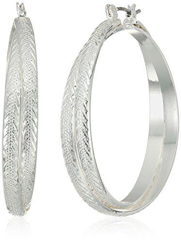 Napier Silver-Tone Hoop Earrings