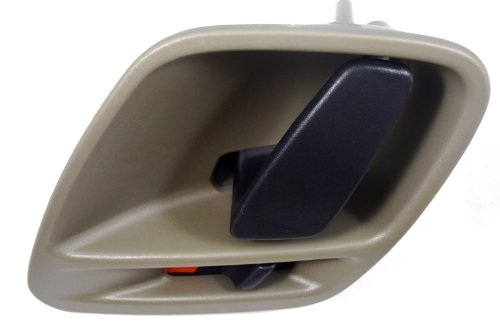 PT Auto Warehouse CH-2813H-LH - Inside Interior Inner Door Handle, Light Gray (Taupe) - Driver - Light Inside Door Handle