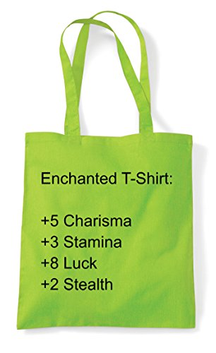 Progression Rpg Up Level Statement Stats Enchanted Lime Tote Bag T Shirt Gaming Character Shopper xUqn0tp1tw