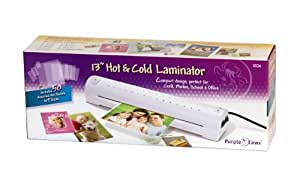 Purple Cows Hot and Kool Laminator, 13 Inches, White (3026)
