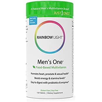 Rainbow Light - Men's One™ Multivitamin - Supports Energy, Stress Management, Heart, Prostate, Muscle, and Reproductive Health in Men - 150 Tablets