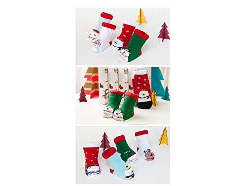 Wetietir Special 4 Pairs Children Cotton Socks Kids Autumn and Winter Christmas Terry Short Tube Socks(Multicolor) for Christmas