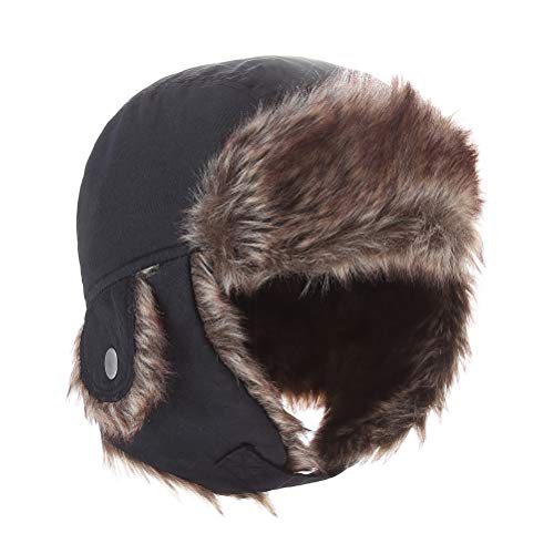 Moon Kitty Boys Winter Hats Big Kids Nylon Russian/Aviator Winter Earflap Cap