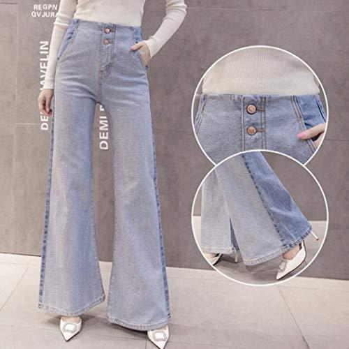 Taille Bleu Bleu Jeans Femmes M pour Taille Haute Couleur dcontracts RXF 8q0Zx