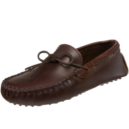 Minnetonka Men's Original Cowhide Driving Moccasin,Brown,10 M US
