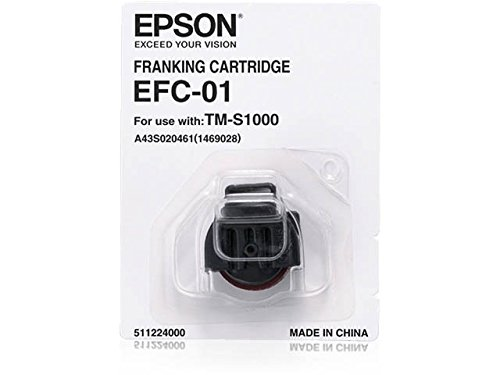 01 Ink (Epson A43S020461 EFC-01 CaptureOne Franking Cartridge for TM-S1000 Cheque Scanner, Red Ink)