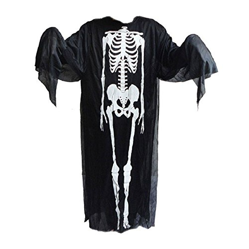 ALIZIWAY Halloween Skeleton Costume Clothes Ghost Dress Cosplay Fancy Gift Party Supplies for Adults T005 Blue]()