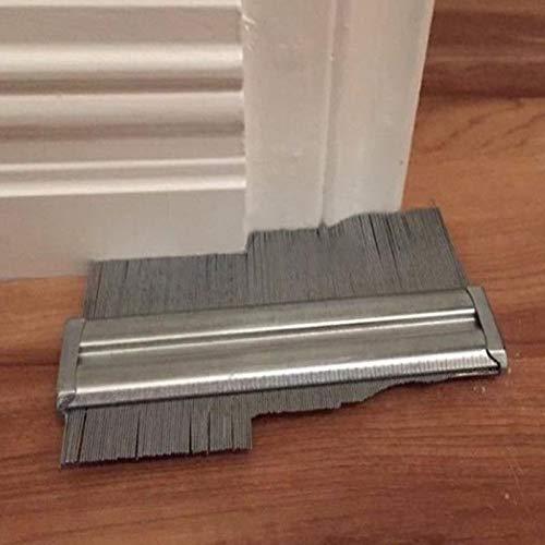 6inch Contour Duplication Gauge Carreleurs stratifi/é Tiles Outils de Travail du Bois Fournitures MAyouth Gauge Profil m/étallique