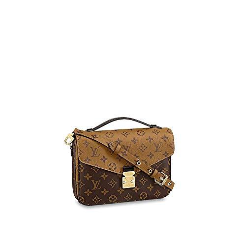 (LLVV Women's Monogram canvas Pochette Metis handbags)