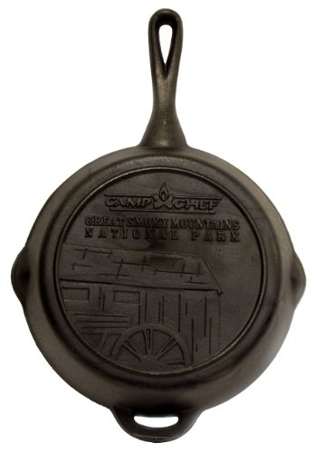 The Camp Chef SK-10  Cast Iron Skillet, 10 Inch Diameter, Outdoor Stuffs