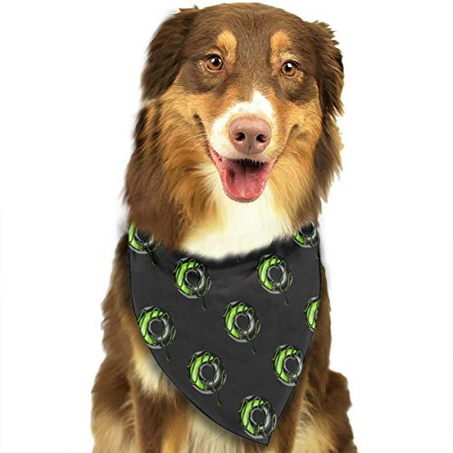 FRTSFLEE Dog Bandana Funky Doughnut Pattern Scarves Accessories Decoration for Pet Cats and Puppies ()