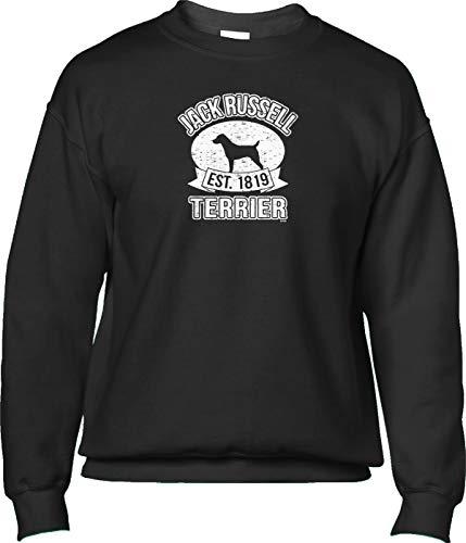 Russell Jack Clubs Terrier - Blittzen Mens Sweatshirt Est 1819 Jack Russell Terrier, XL, Black