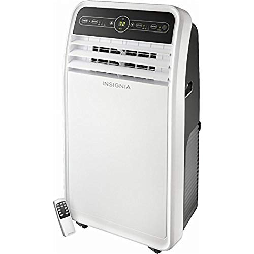 Insignia - 450 Sq. Ft. Portable Air Conditioner NS-AC10PWH9 - Full-function remote - Washable filter (Renewed)