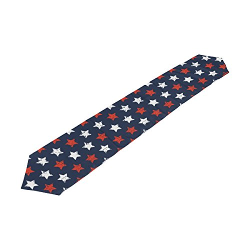 Naanle Double-Sided American Flag Day Fourth of July Independence Memorial Day Patriotic Freedom Stars Polyester Table Runner & Bed Runner 13
