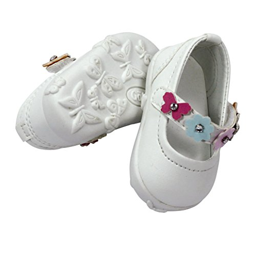 "Gotz Sweet Summer White Flower Doll Shoes for 18"" and 19.5"" Dolls"