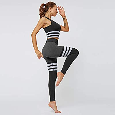 MANON ROSA Workout Sets Women 2 Piece Yoga Legging Sports Bra Top Gym Clothes at Women's Clothing store