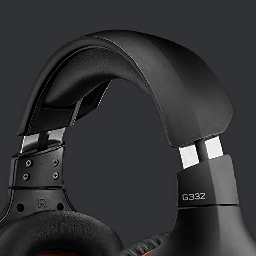 Logitech G332 Auriculares Gaming con Cable, Transductores 50 mm, Almohadillas Giratorias Cuero Sintético, 3,5 mm Jack…