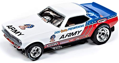 Auto World Legends Army Prudhomme 'Cuda NHRA 4 Gear HO Electric Slot Car (Gear Slot Car)