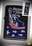 218 Statue of Liberty Lighter with Flint Pack - Premium Lighter Fluid (Comes Unfilled) - Made in USA!