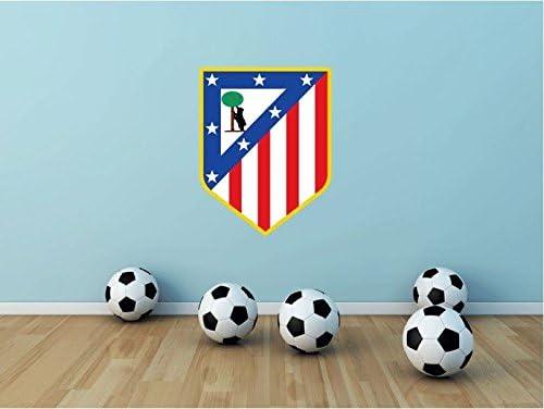 De la bandera de España atlético Madrid F.C, fútbol Sport vinilo adhesivo de pared con texto en inglés 63 x 48 cm: Amazon.es: Hogar