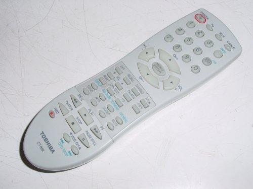 Toshiba CT-852 TV DVD CBL VCR System Remote Control for 27A43, 27A43C, 27A44, 27A45, 27A45C, 27A46, 27A46C, 32A13, 32A14, 32A15, 32A35, 32A35C, 32A36C, 32AF14, AE000622, AE000622K, CT852 (Vcr Toshiba)