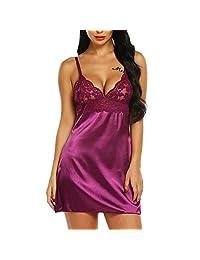 BOLUOYI Fashion Sexy Lace Sleepwear Lingerie Temptation Babydoll Underwear Nightdress