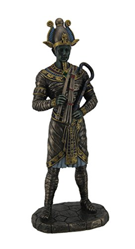 (Resin Statues Osiris Ancient Egyption God Of The Dead Bronze Finished Statue 4 X 10.5 X 3 Inches)