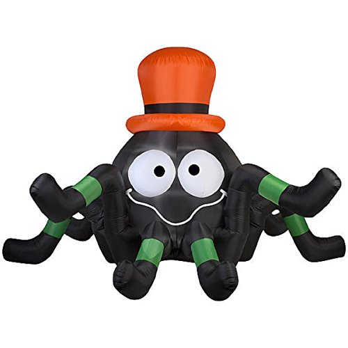 Halloween Inflatable GIANT 6' Animated Spider With Top Hat By Gemmy]()
