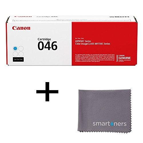 Canon Color imageCLASS MF733Cdw (CRG046) Cyan Toner Standard Yield (2,300 Yield) w/ Micro Smartoners Cloth
