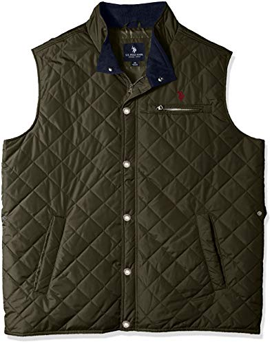 - U.S. Polo Assn. Men's Quilted Vest, Forest Night, 2X