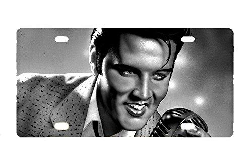 Durable Elvis Presley Metal License Plate Car Tag ()