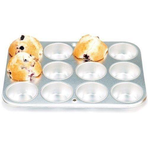 Norpro 3770 Heavy-Duty Gauge Tin Muffin Pan, 12 Cupcake