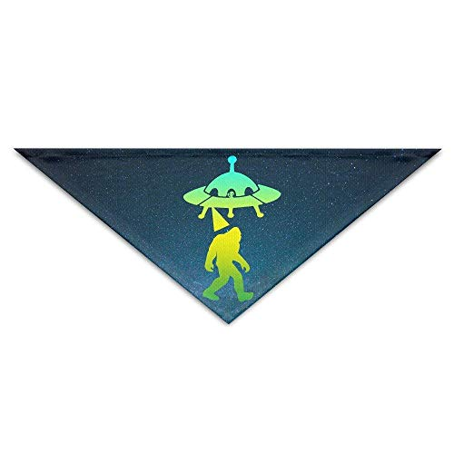 Soft,Absorbent,Cotton Polyester,Bigfoot Alien UFO Abduction Baby Pet Triangle Head Scarfs Dog Scarves Puppy Triangle