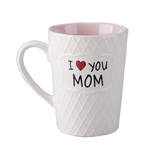Love Mug Mom - Ynsfree-Mom Birthday's Gift Mug Gifts- I Love You Mom-16 OZ Coffee & Tea Cup-Gifts for Mom,Mothers, Ladies,Women, Wife,Valentine's Or Anniversary-Ceramic Cocoa Office Handle White Mugs