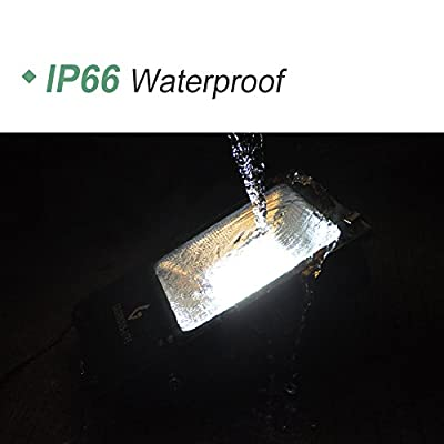 GLORIOUS-LITE LED Flood Light Outdoor, 50W Work Light with 4000 Lumen, Equiv 250W Halogen, IP66 Waterproof, 6500K White Light, Floodlight for Garage, Garden, Lawn and Yard: Home Improvement
