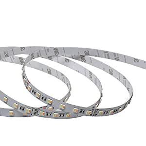 LGIDTECH UL Certification Approved Flexible LED Strip Lights 300 Units 5050SMD 5 Meters DC 12V WW+CW 2 in 1 Color Temperature Adjustabel IP65 Waterproof for Christmas,Seasonal Holidays Decoration