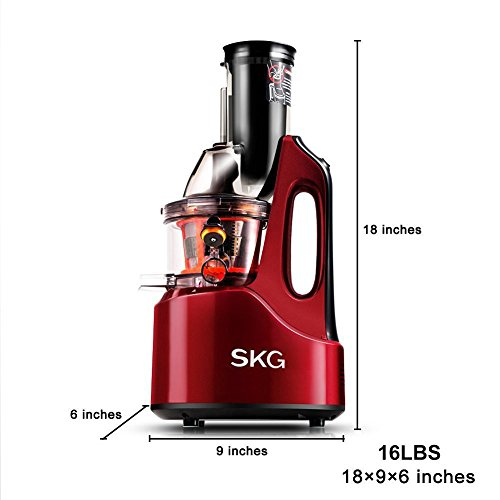 Slow Juicer In Kuwait : SKG Wide Chute Anti-Oxidation Slow Masticating Juicer (240W AC Motor, 60 RPMs, 3