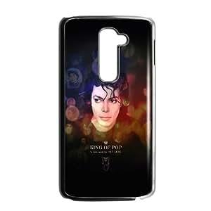 LG G2 Cell Phone Case Black Jackson King Of Pops Face LV7080764
