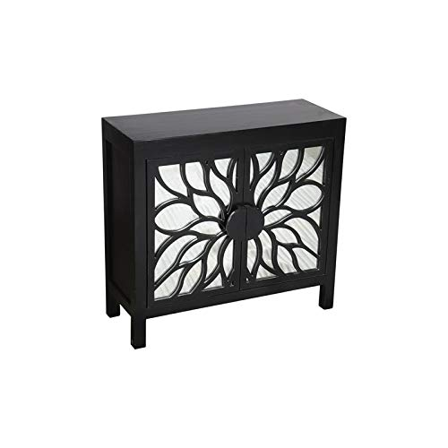 Hawthorne Collections Chrysanthemum Solid Mango Wood Two Door Cabinet by Hawthorne Collections