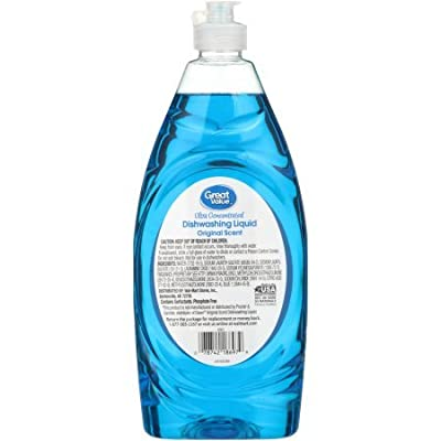 Great Value Ultra Concentrated Original Scent Dishwashing Liquid, 5 x 24 Fl Oz