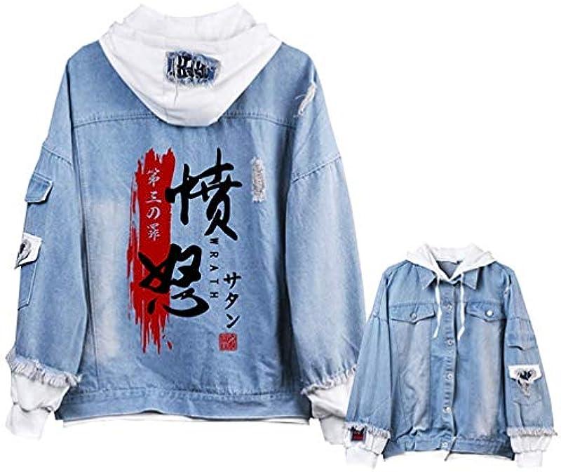 Lannister The Seven Deadly Sins Anime odświętna odzież unisex bluza z kapturem kurtka dżinsowa Cosplay Denim kurtka outwear płaszcze gÓrna część 2019 męska odzież: Odzie&