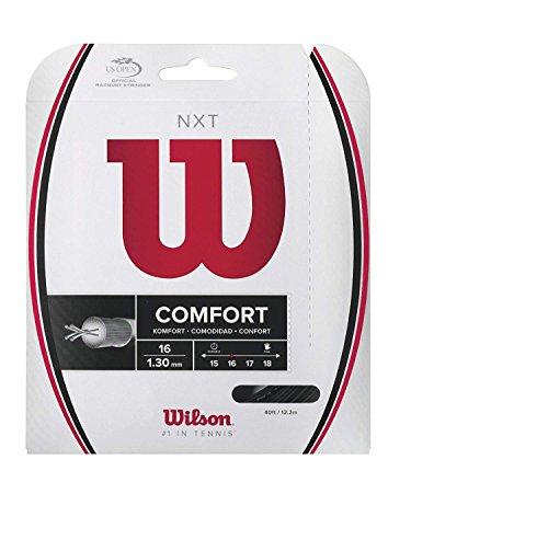 Wilson NXT 16 Gauge Black Color Multifilament Tennis String 2-Pack (2 Sets Per Order) ()