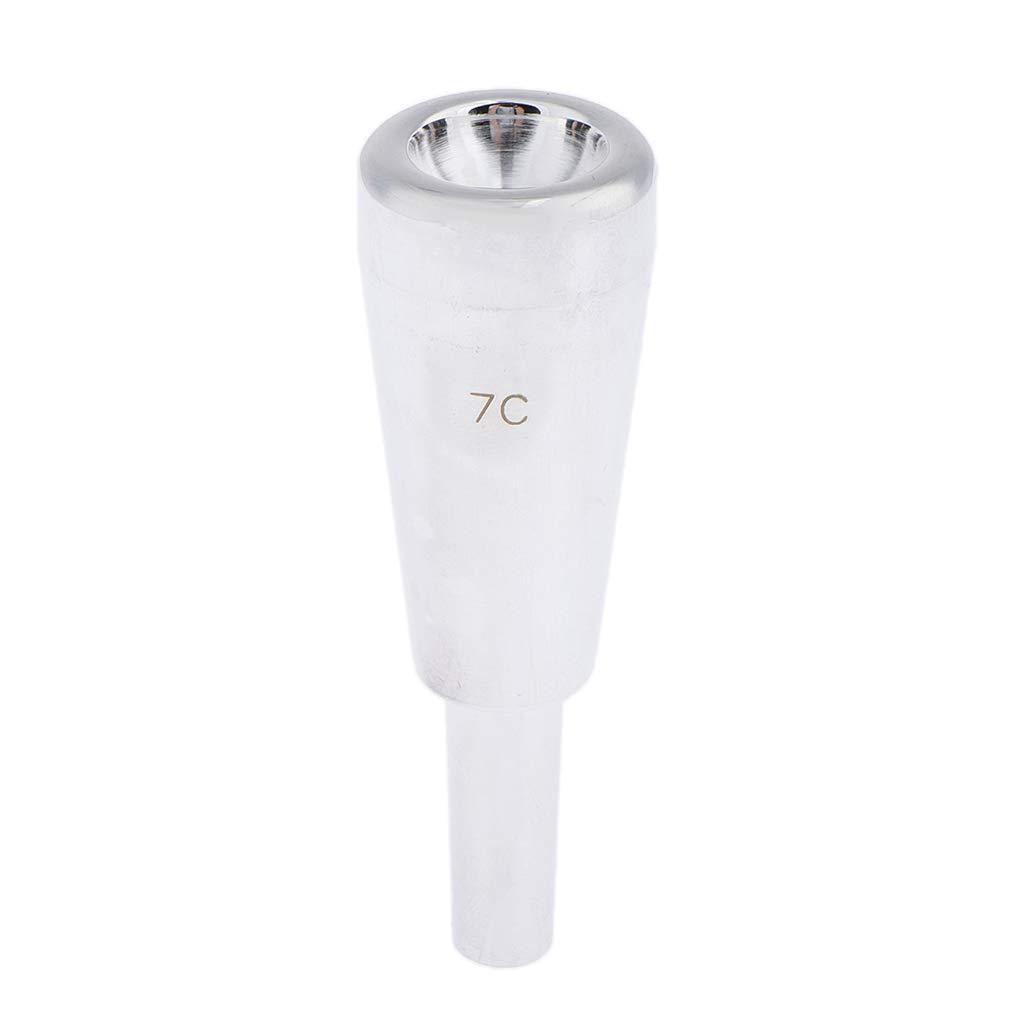 Plata 7C Boquilla de Trompeta de Cobre para Instrumento Musical Boquilla de Trompeta