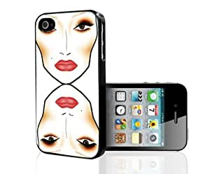 Makeup Face Chart Hard Snap on Phone Case (iPhone 5/5s)